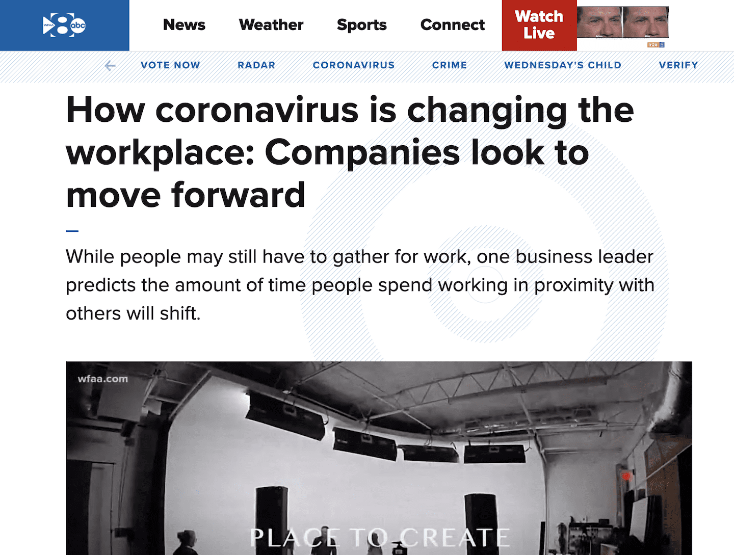 How coronavirus is changing the workplace | WFAA