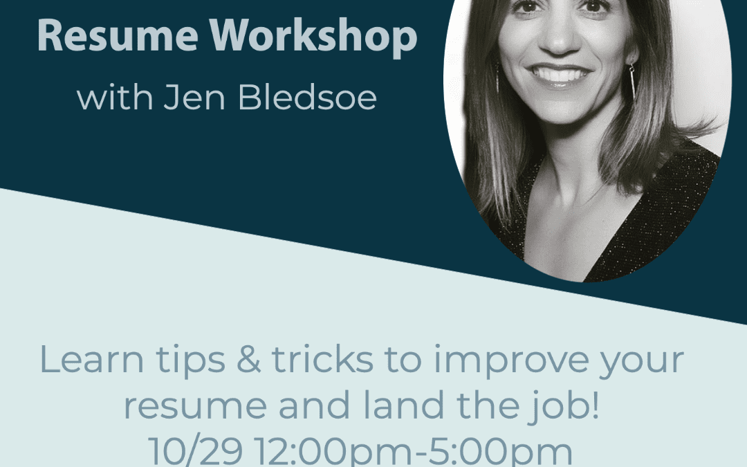Resume Workshop Day 2 with Jen Blesdoe